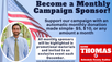 Become a Monthly Campaign Sponsor!