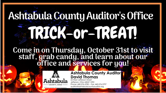 Trick-or-Treat at the Auditor's Office!