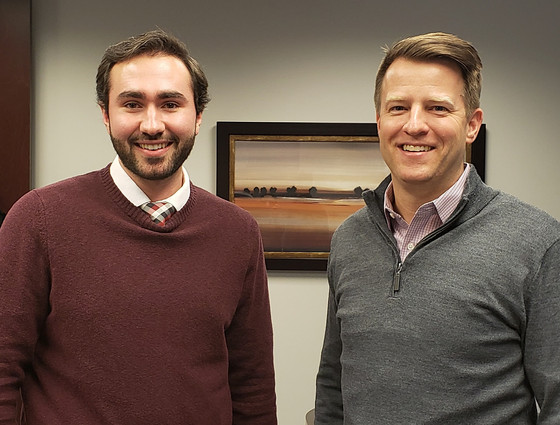Thomas meets with Stark County Auditor and Mentor, Alan Harold