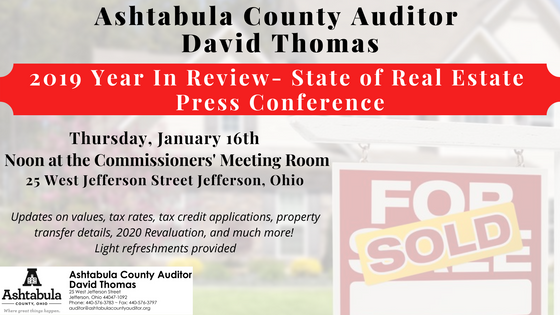 2019 Year in Review Press Conference- State of the Real Estate