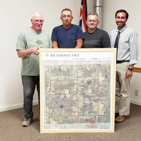 Anonymous Map Donation Presented to Richmond Township Trustees