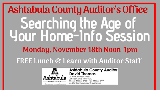 Historical Property Searching Lunch & Learn