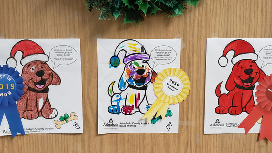 Auditor's Office Dog License Coloring Contest Results