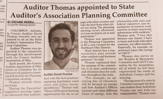 Appointment to the State Planning Committee for CAAO