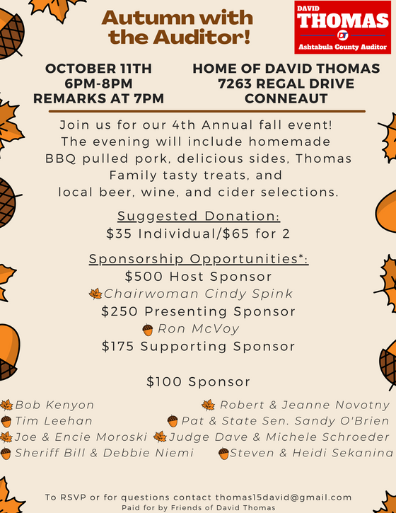 4th Annual Autumn with the Auditor!