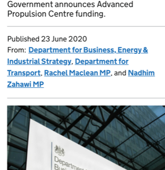 £73.5million for automotive sector to cut carbon emissions