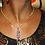 Thumbnail: Blue Sodalite Charm with Gold Necklace