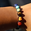 Thumbnail: Black Rope Chakra Bracelet with Jade