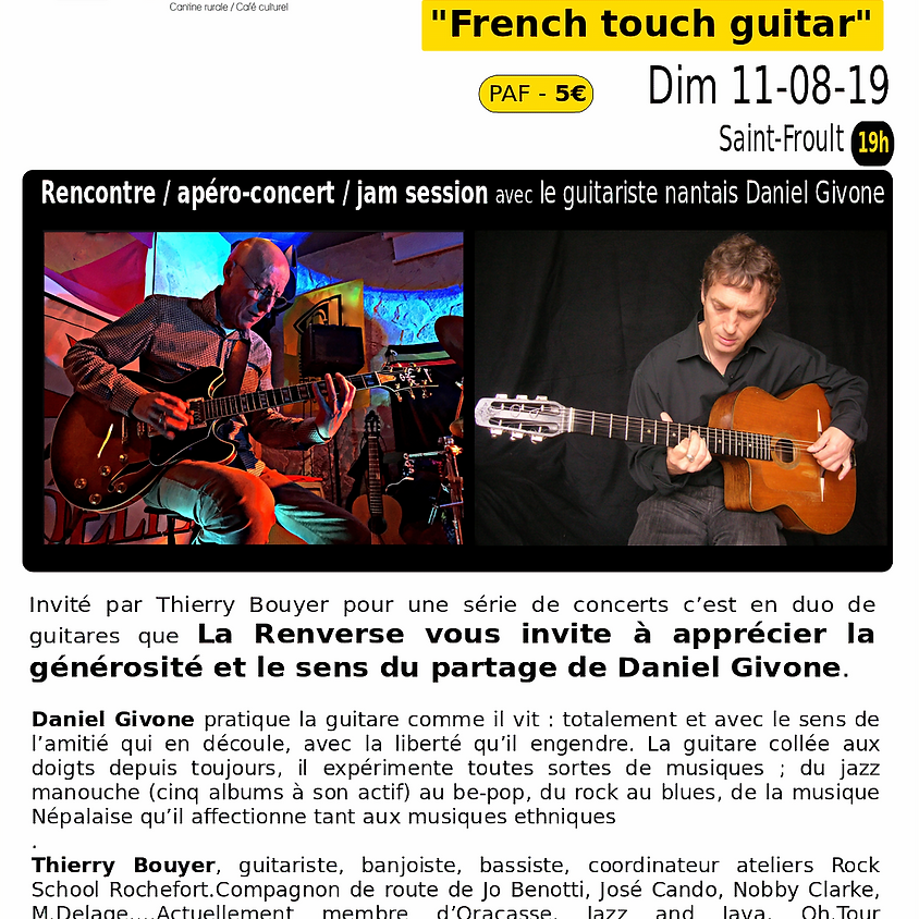 Concert French touch guitar