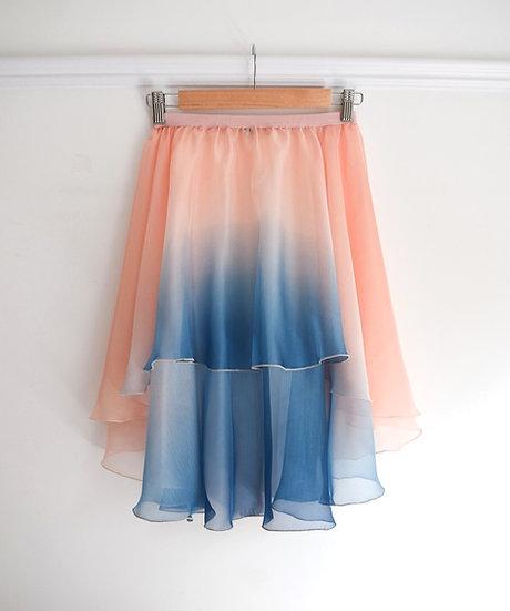 Full Circle High Low Pull on Skirt