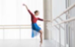 blue ballet skirt studio shoot