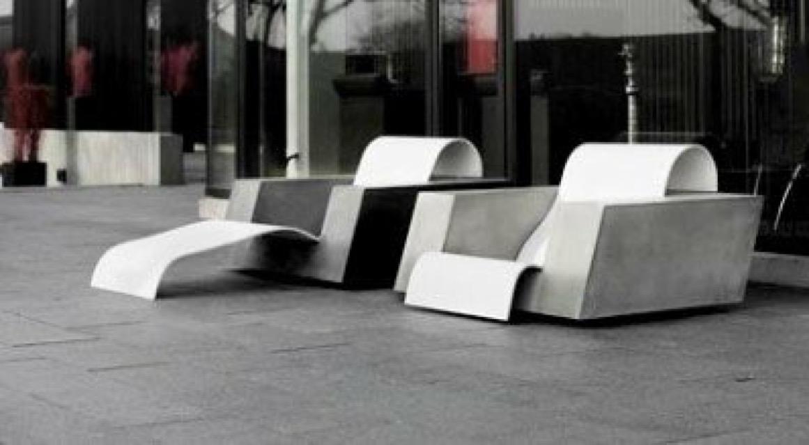 Cazana Beton+ Formula W lounge stol