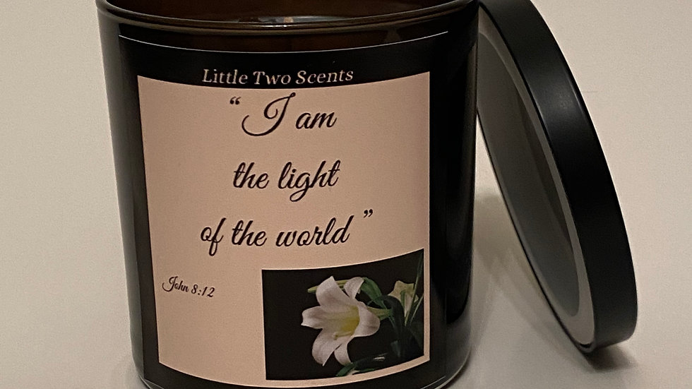 """""""I am the light of the world"""" Candle"""