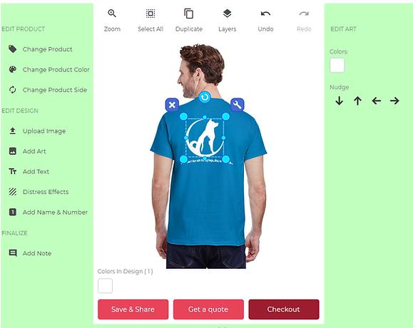 custom t shirt design studio