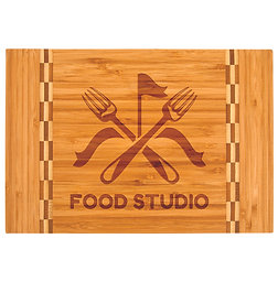BAMBOO CUTTING BOARD WITH CUSTOM LASER ENGRAVING