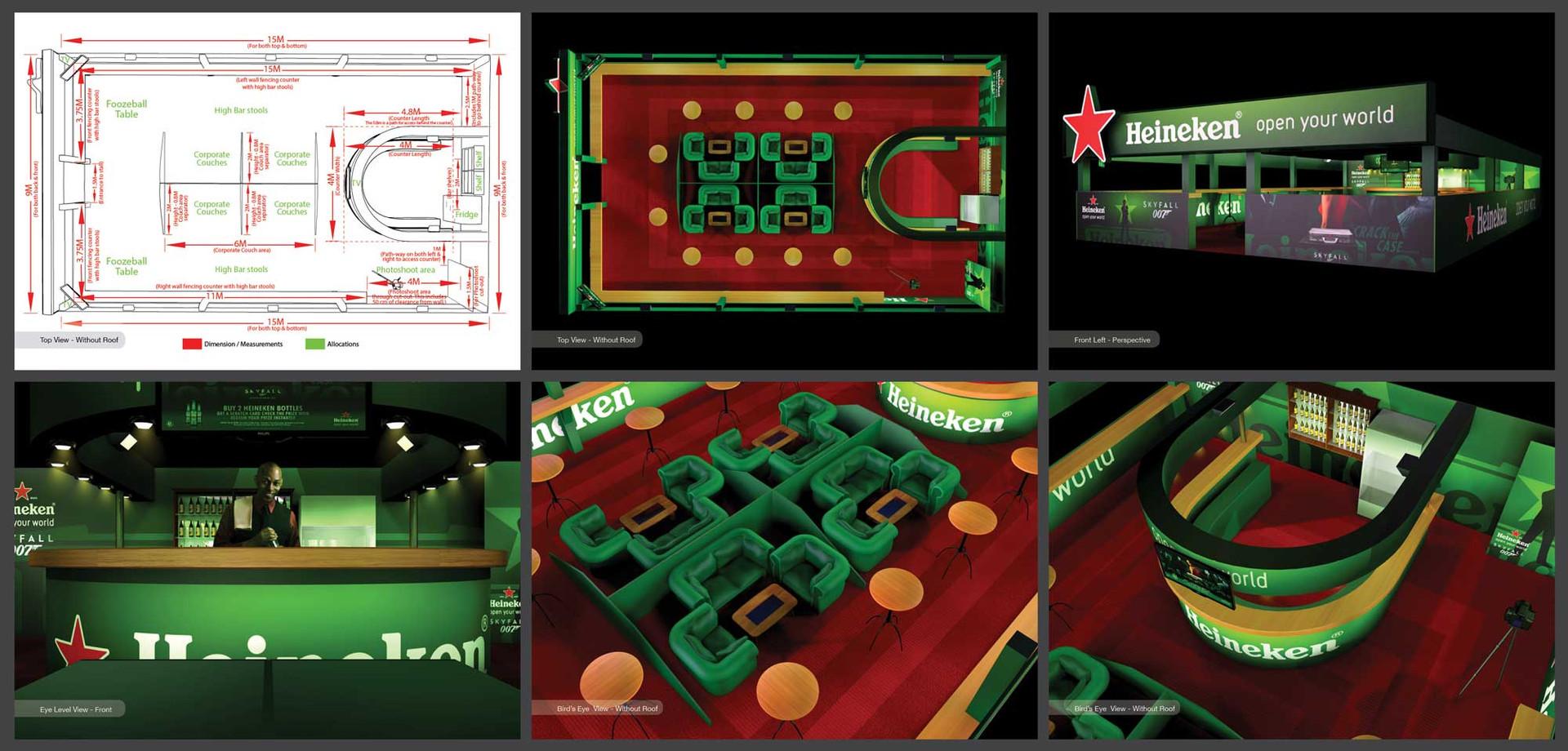 Heineken Expo Bar 3D Proposal