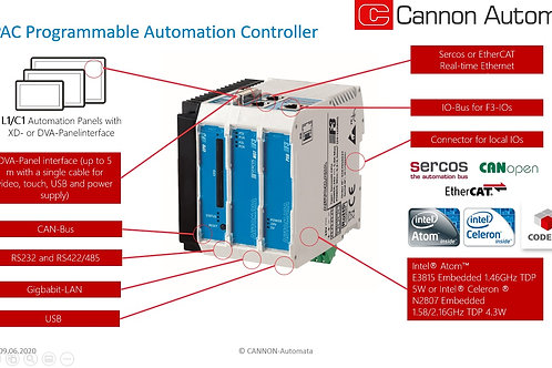 F3 - Programmable Automation Controller with Intel®-Atom™ CPU