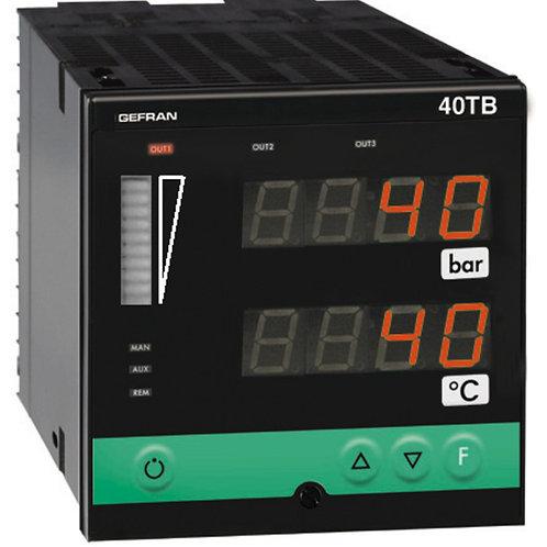 40TB Indicator/Alarm Unit for temperature and pressure inputs, double display