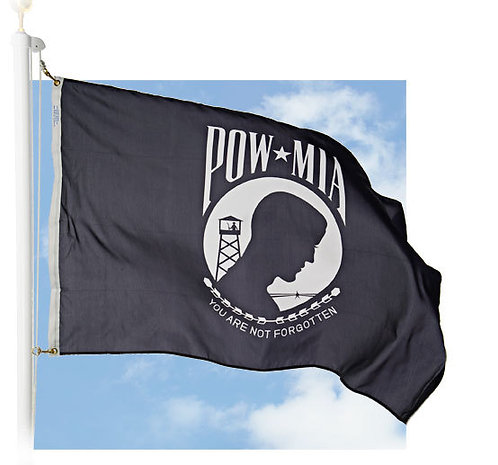 Outdoor POW/MIA Flags