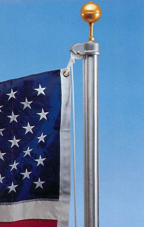 Satin Estate External Aluminum Flagpole