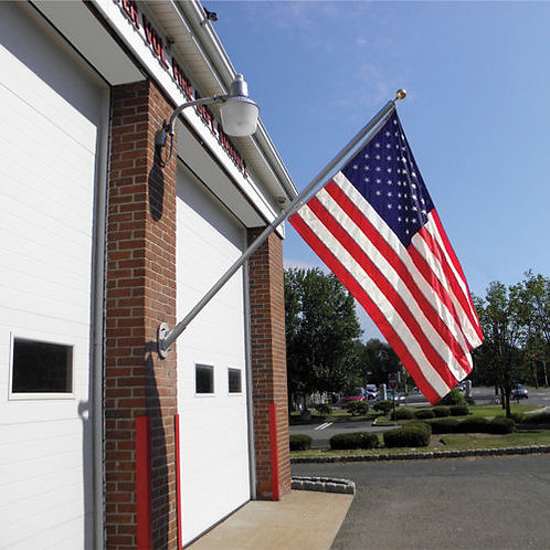 Commercial 8 ft. Spinner Flag Pole with 4' x 6' Nylon Flag