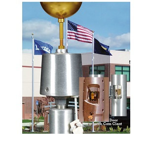 Satin Sentry II Internal Aluminum Flagpole
