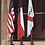 Thumbnail: Commercial External Halyard Vertical Wall Mount Aluminum Flagpoles