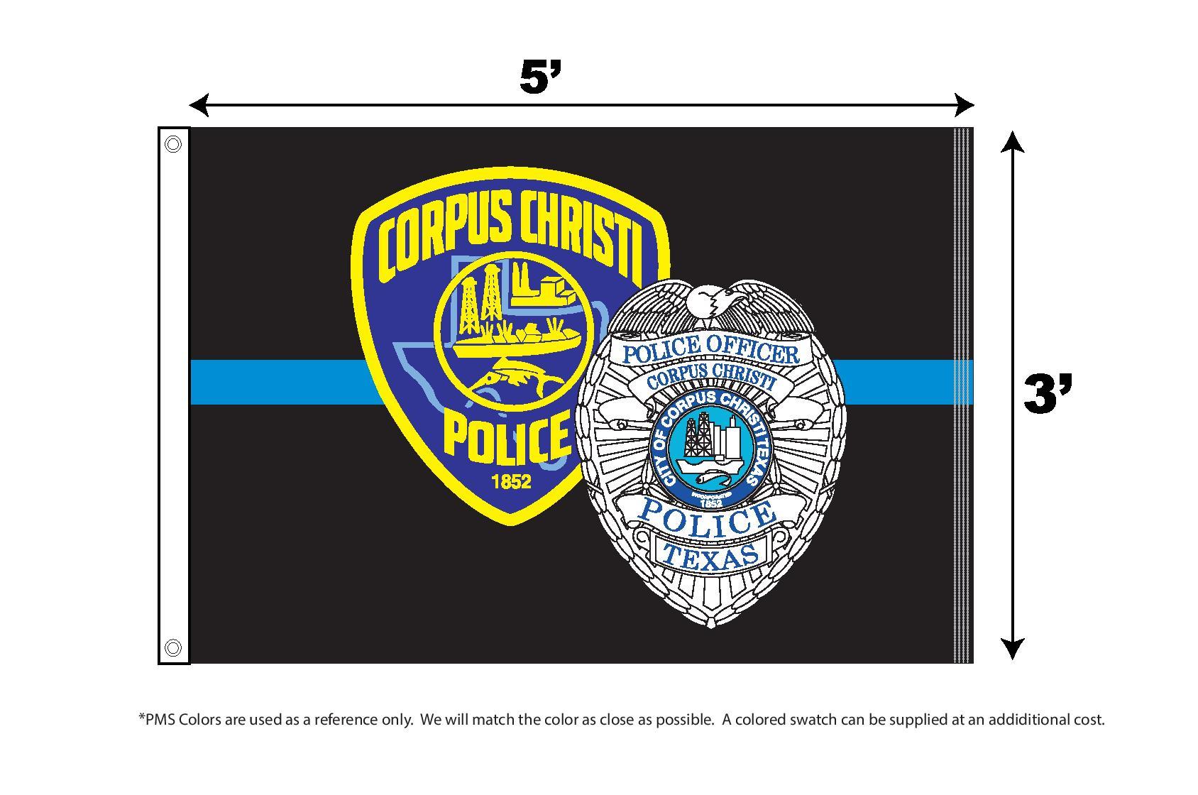 Corpus Christi Police 3 x 5