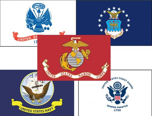 Outdoor Military Flags - Five Branches