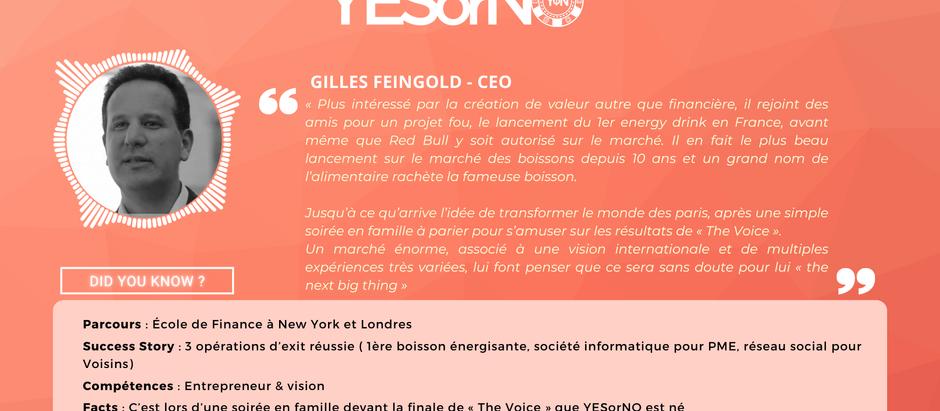 Le parcours de Gilles Feingold, CEO et fondateur du projetYESorNO