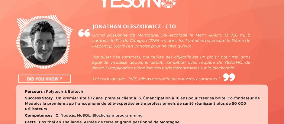 Présentation de Jonathan Oleszkiewicz CTO deYESorNO