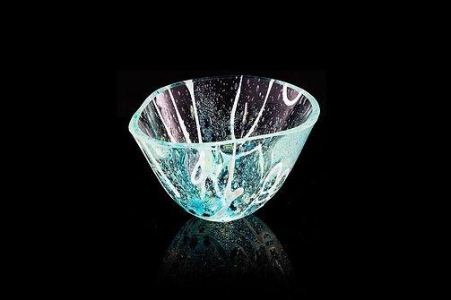 Shoreline vessel.  Helen Eastham Studio. Fused-glas .  Helen Eastham designer/make