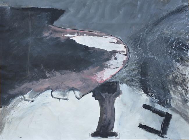 woedende piano 70X100 acryl