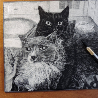 Portrait of Charlie and Blackcat