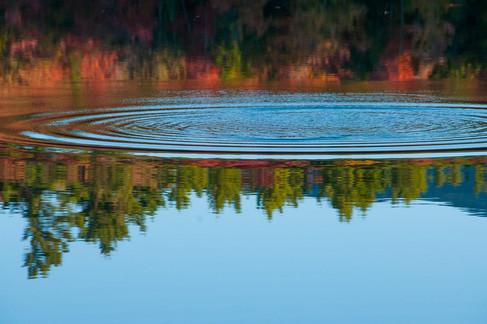 Splash on Stone Pond