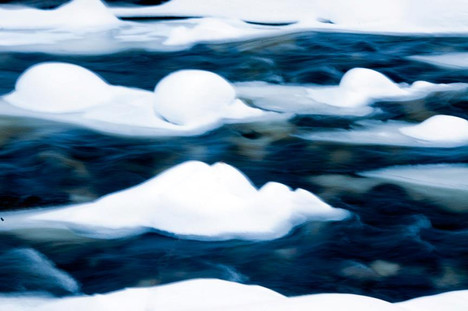 Snow Flows in the River
