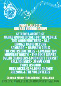 petaluma music festival poster