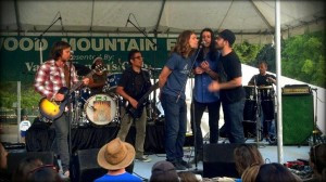 on stage with Lukas Nelson. Redwood Mountain Faire