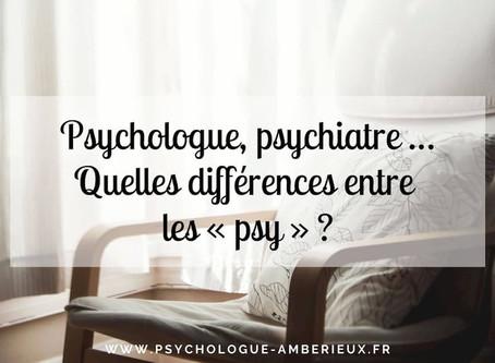 Psychologue, psychiatre, psychothérapeute… Quelles différences entre les «psy»?
