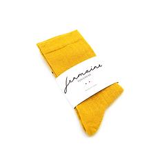 Chaussettes à paillettes jaunes fabriquées en France. Jermaine Toulouse.