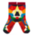 Chaussettes multicolores Jermaine Toulouse. Made in France.