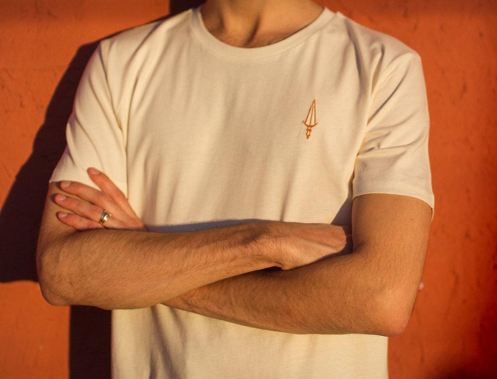 Tee-shirt Natural White / logo cuivre (unisexe)