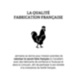 La fabrication française est une priorité pour la marque Jermaine Toulouse. Le savoir-faire français est un gage de qualité.