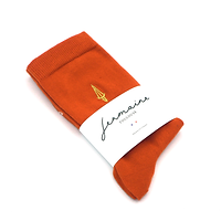chaussettes oranges Jermaine Toulouse. Chaussettes made in France.