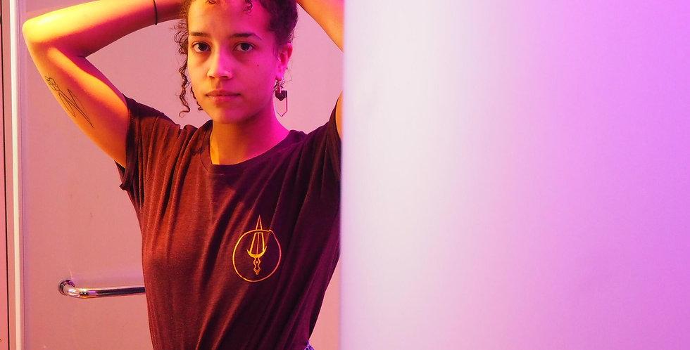 Tee-shirt HeatherGrap / Groslogo Or (unisexe)
