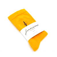 chaussettes jaune jermaine Toulouse. Chaussettes made in France.