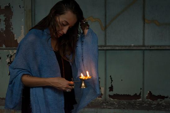 Indigo Meditation Cloth