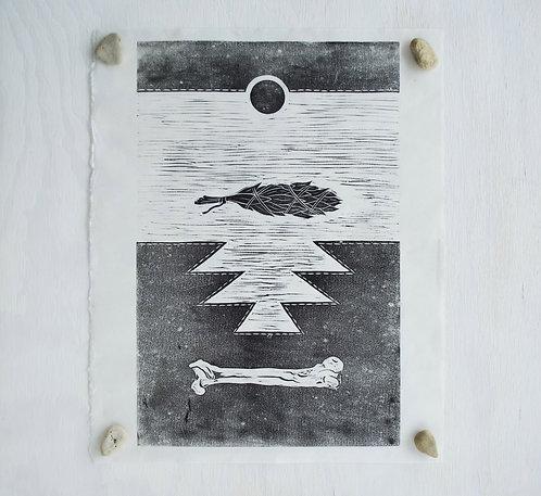 Offering - Linocut Print