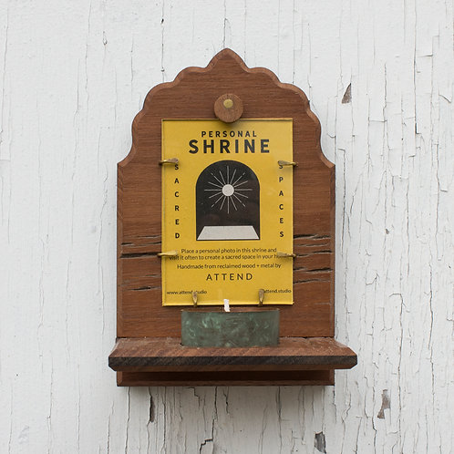Walnut Barnwood Shrine