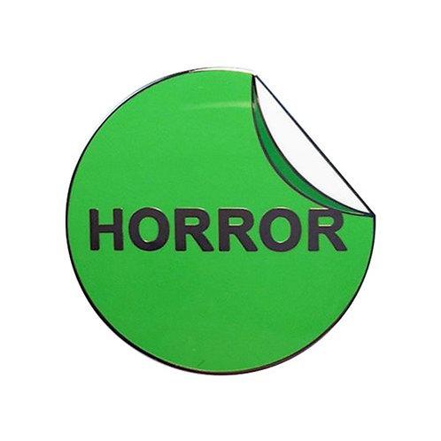 Horror Label Enamel Pin